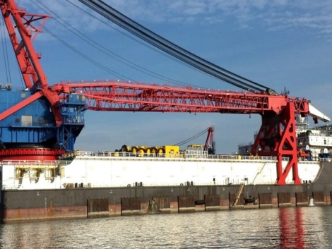 4,200T DP3 Derrick Pipe Lay Vessel For Sale